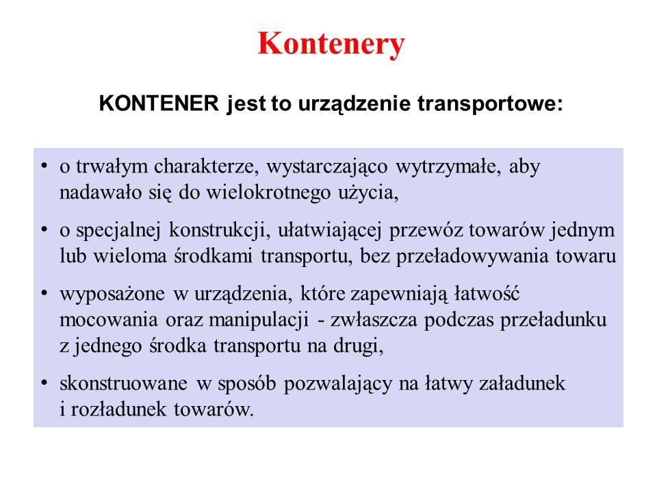 KONTENER jest to urządzenie transportowe: