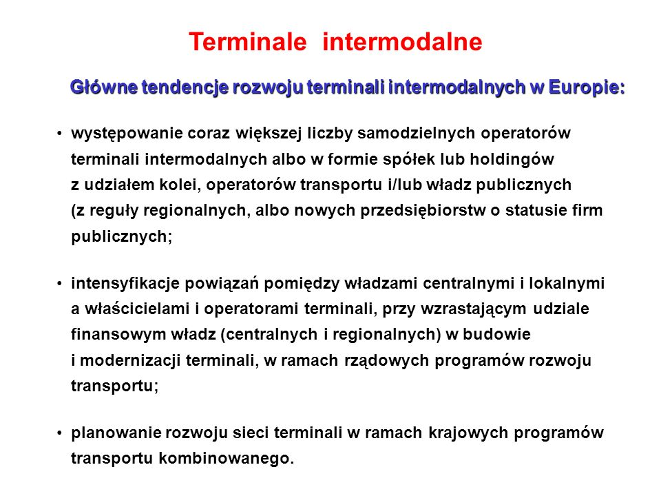 Terminale intermodalne