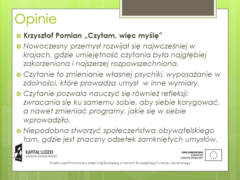 """Opinie Krzysztof Pomian """"Czytam, więc myślę"""