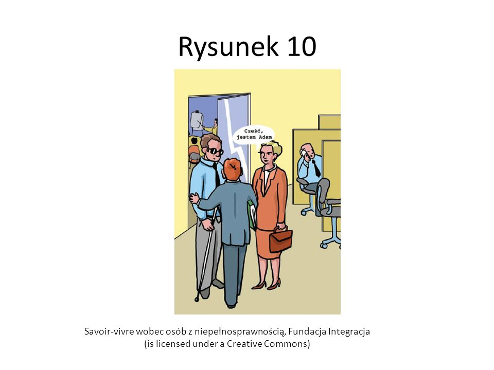 Rysunek 10 Savoir-vivre wobec osób z niepełnosprawnością, Fundacja Integracja.