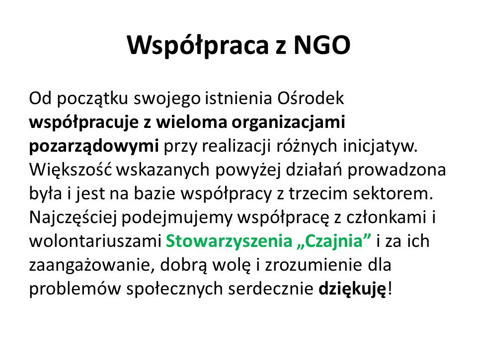 Współpraca z NGO