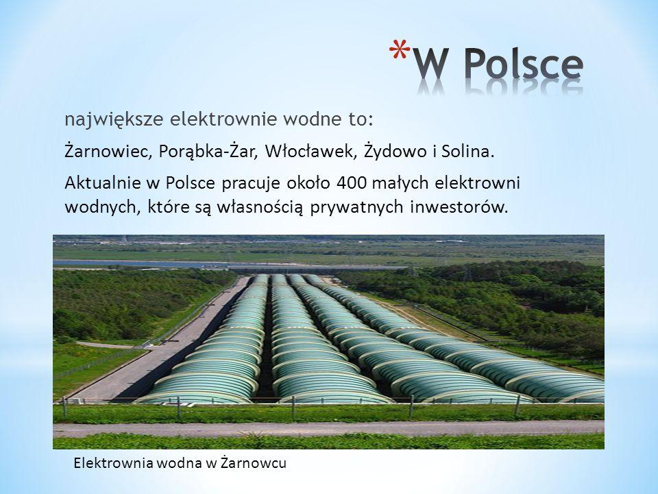 W Polsce największe elektrownie wodne to: