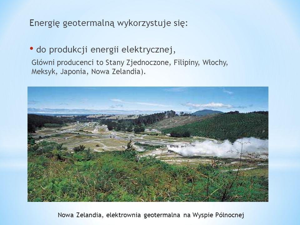 Nowa Zelandia, elektrownia geotermalna na Wyspie Północnej