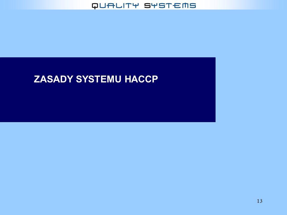 ZASADY SYSTEMU HACCP