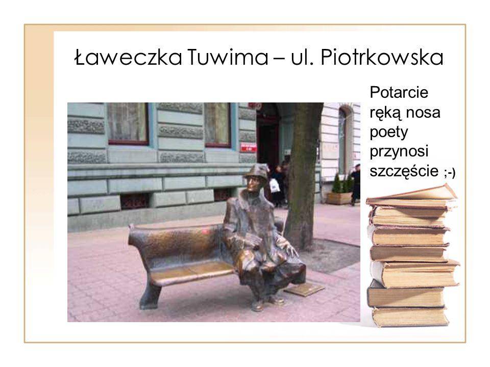 Ławeczka Tuwima – ul. Piotrkowska