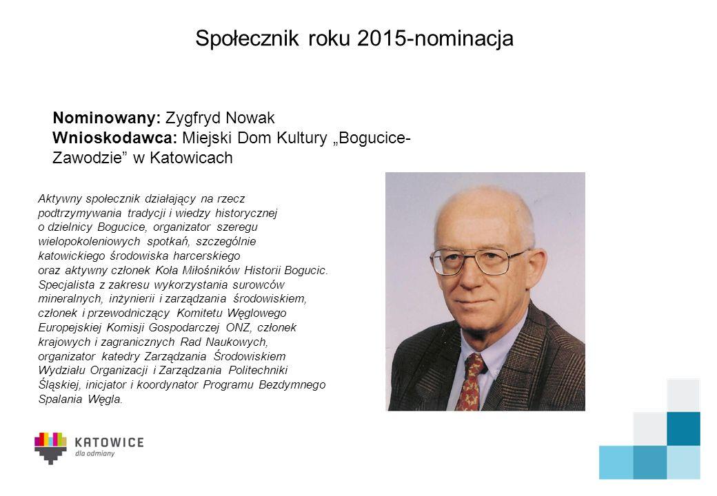 Społecznik roku 2015-nominacja