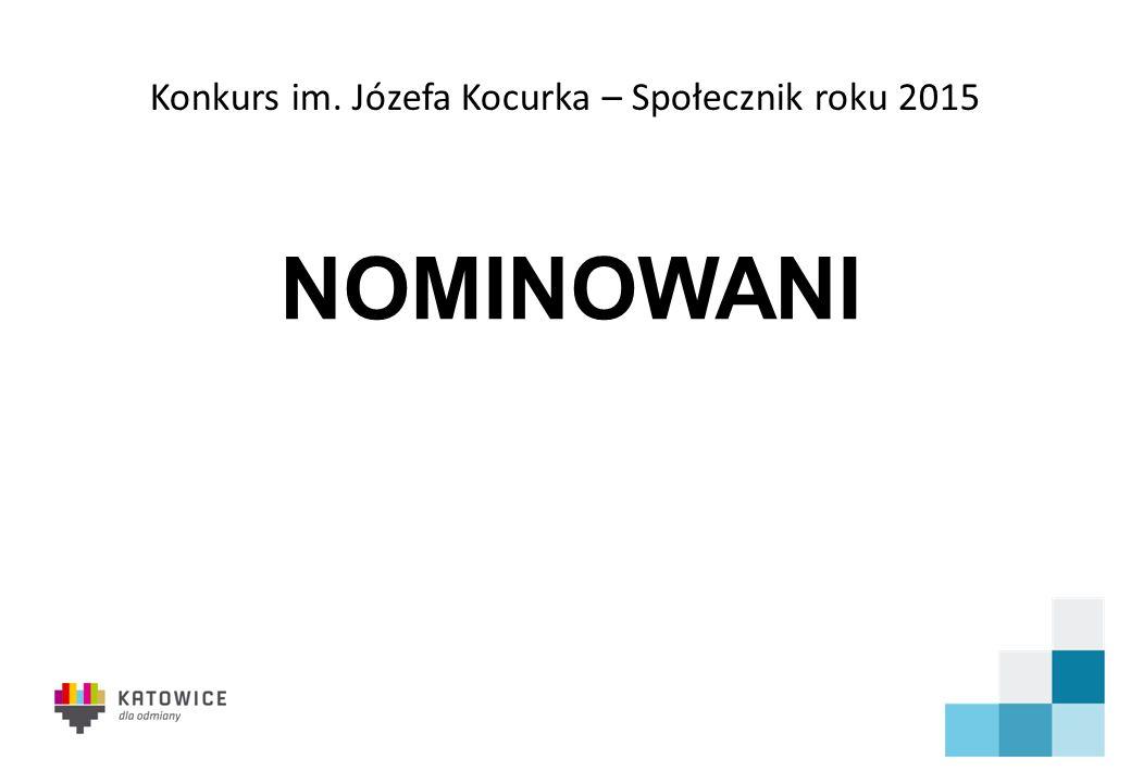 Konkurs im. Józefa Kocurka – Społecznik roku 2015