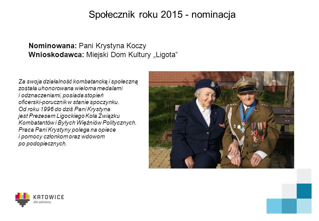 Społecznik roku 2015 - nominacja