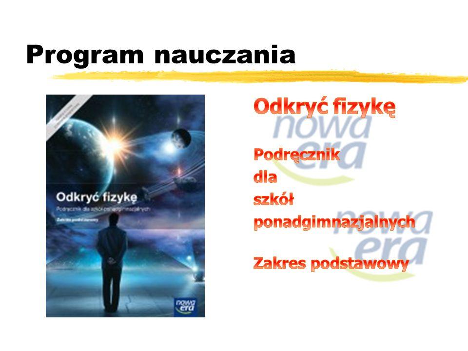 Program nauczania Odkryć fizykę Podręcznik dla szkół