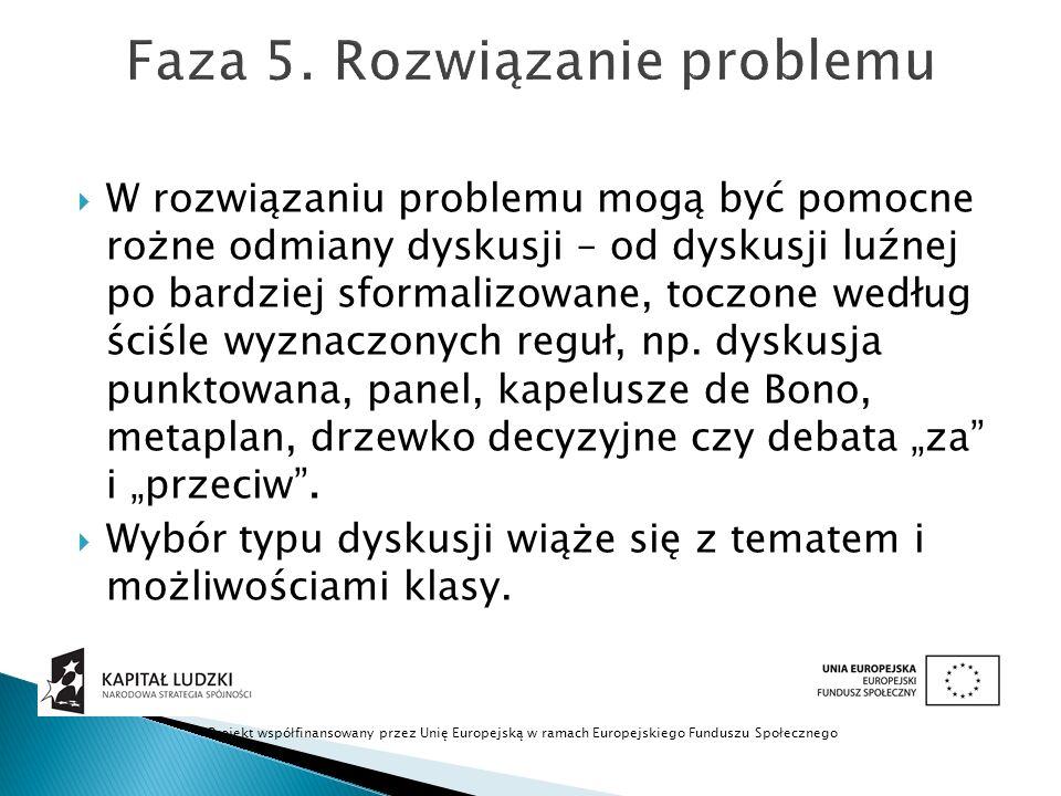 Faza 5. Rozwiązanie problemu