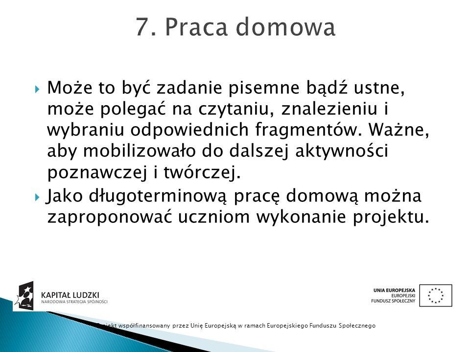 7. Praca domowa
