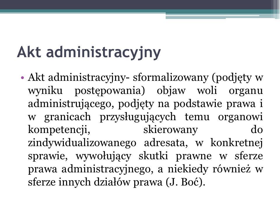Akt administracyjny