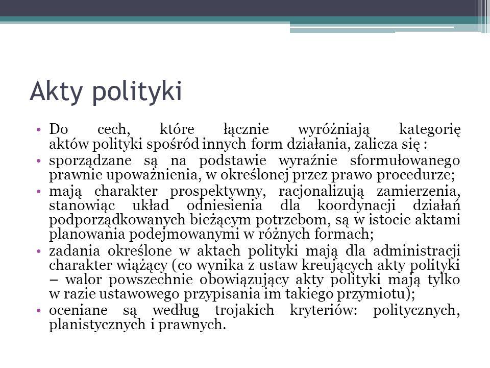 Akty polityki