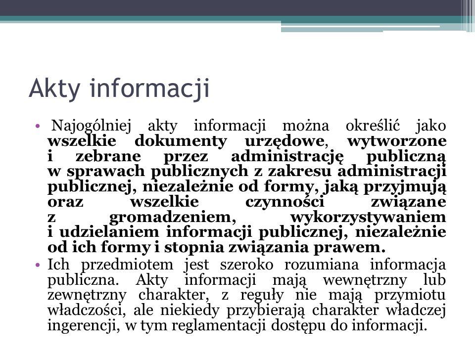 Akty informacji