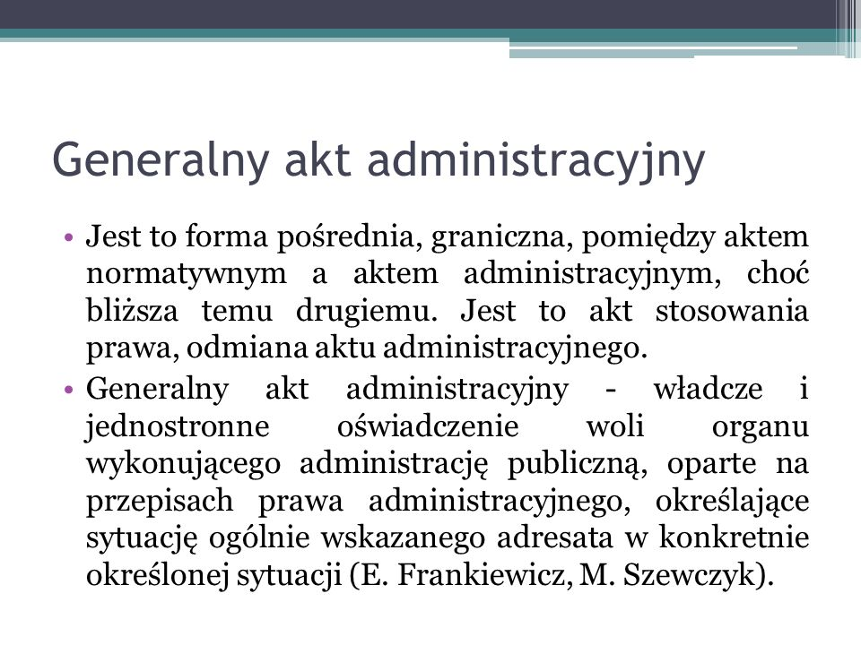Generalny akt administracyjny