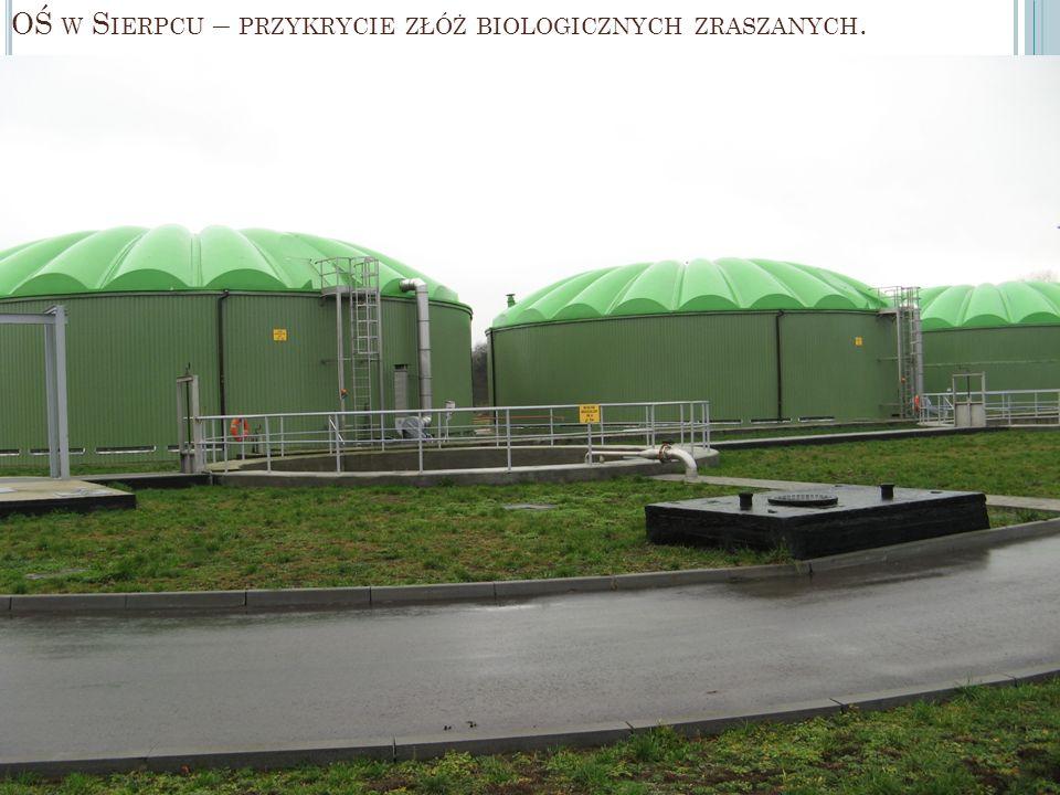 OŚ w Sierpcu – przykrycie złóż biologicznych zraszanych.