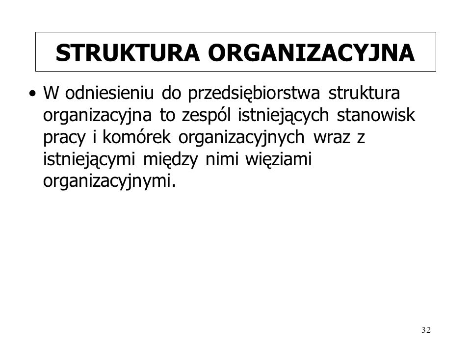 STRUKTURA ORGANIZACYJNA