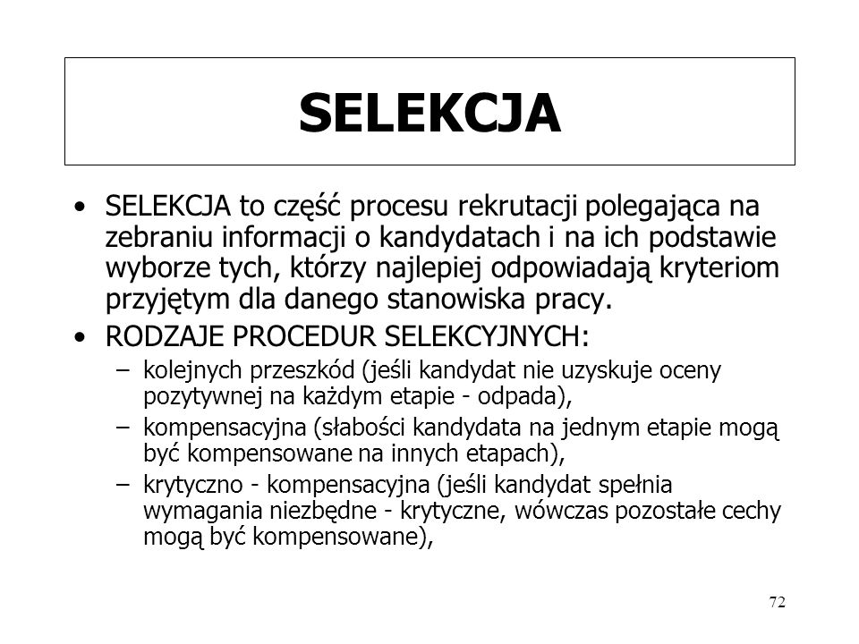 SELEKCJA