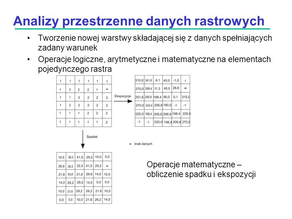 Analizy przestrzenne danych rastrowych