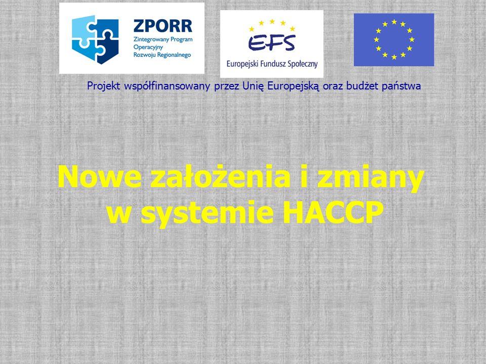 Nowe założenia i zmiany w systemie HACCP
