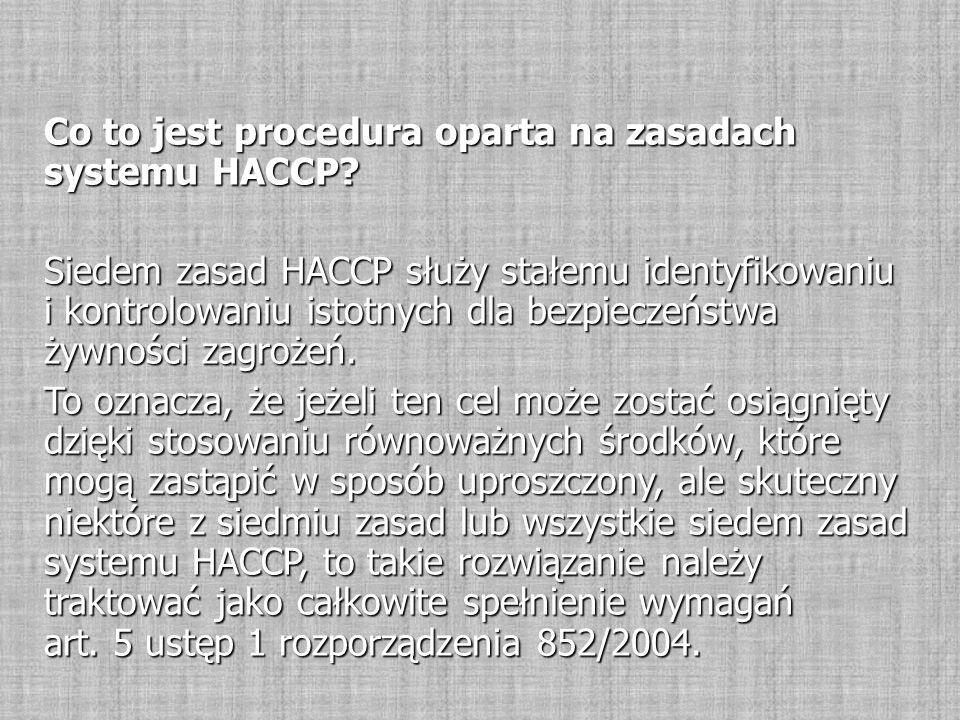 Co to jest procedura oparta na zasadach systemu HACCP