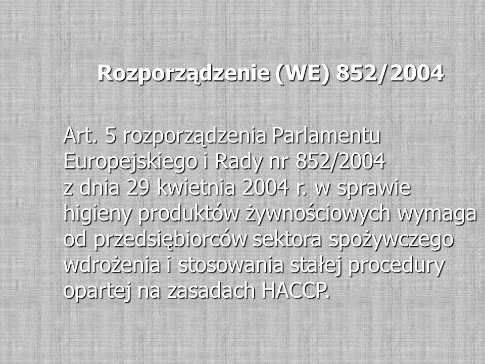 Rozporządzenie (WE) 852/2004