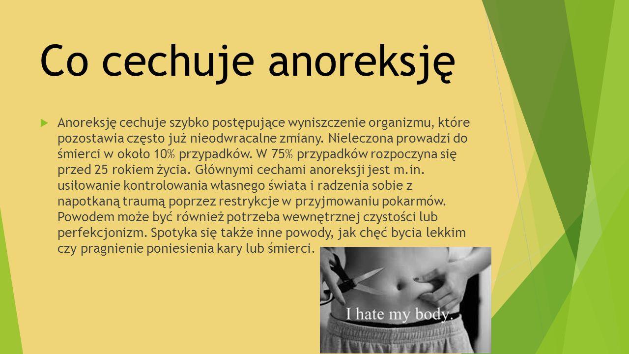 Co cechuje anoreksję