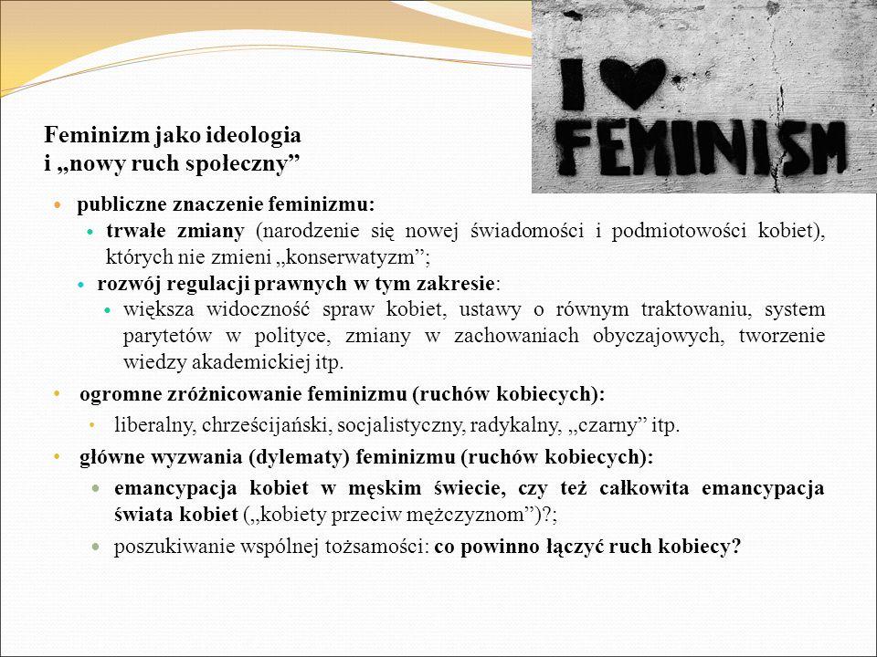 """Feminizm jako ideologia i """"nowy ruch społeczny"""