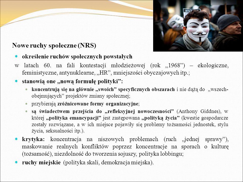 Nowe ruchy społeczne (NRS)