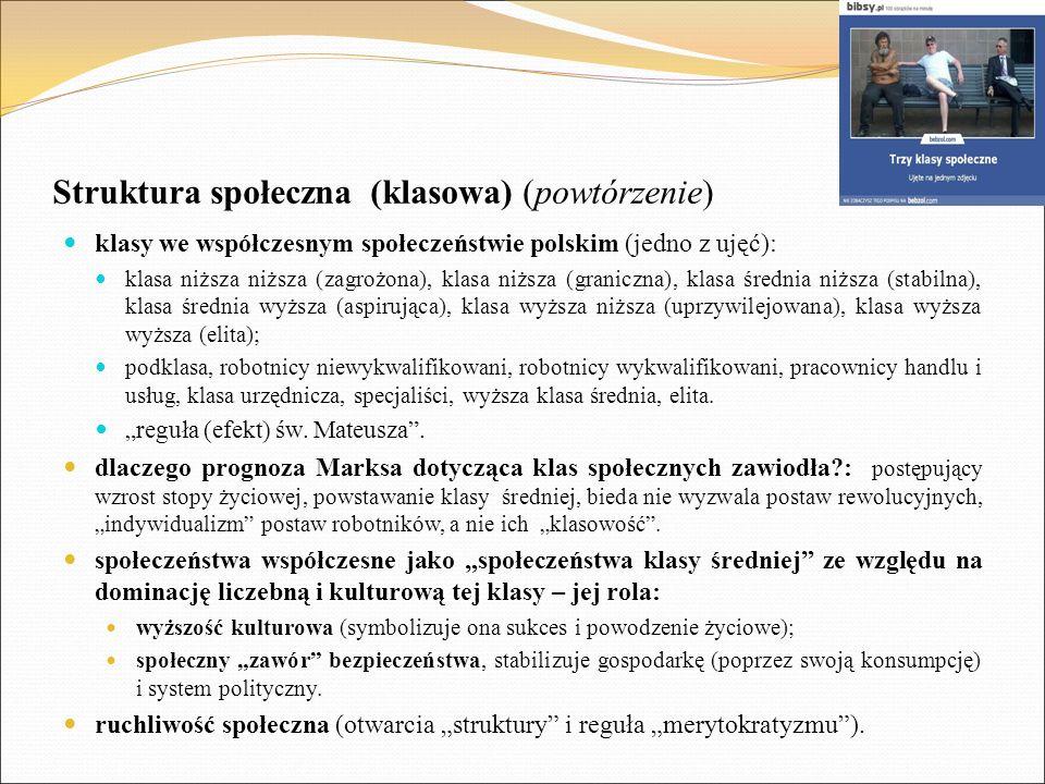 Struktura społeczna (klasowa) (powtórzenie)