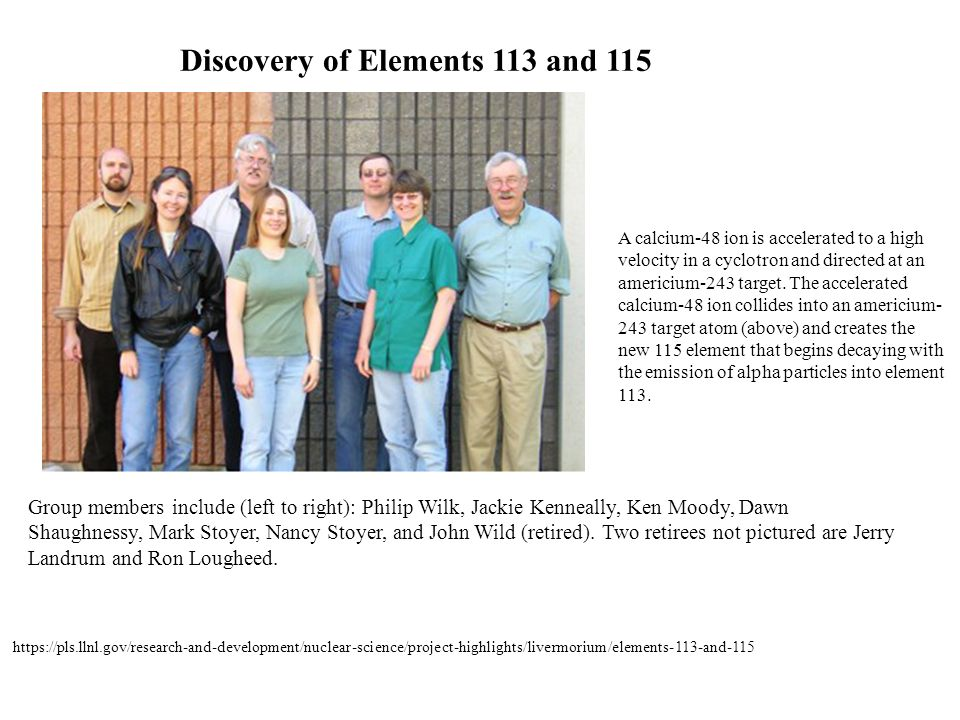 Discovery of Elements 113 and 115