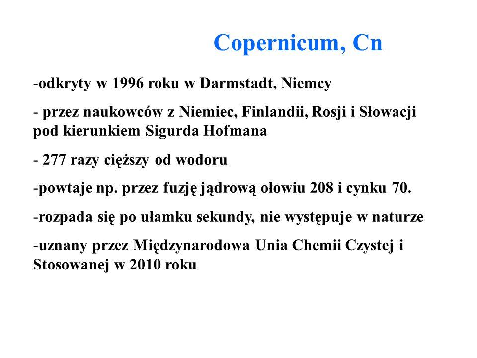 Copernicum, Cn odkryty w 1996 roku w Darmstadt, Niemcy