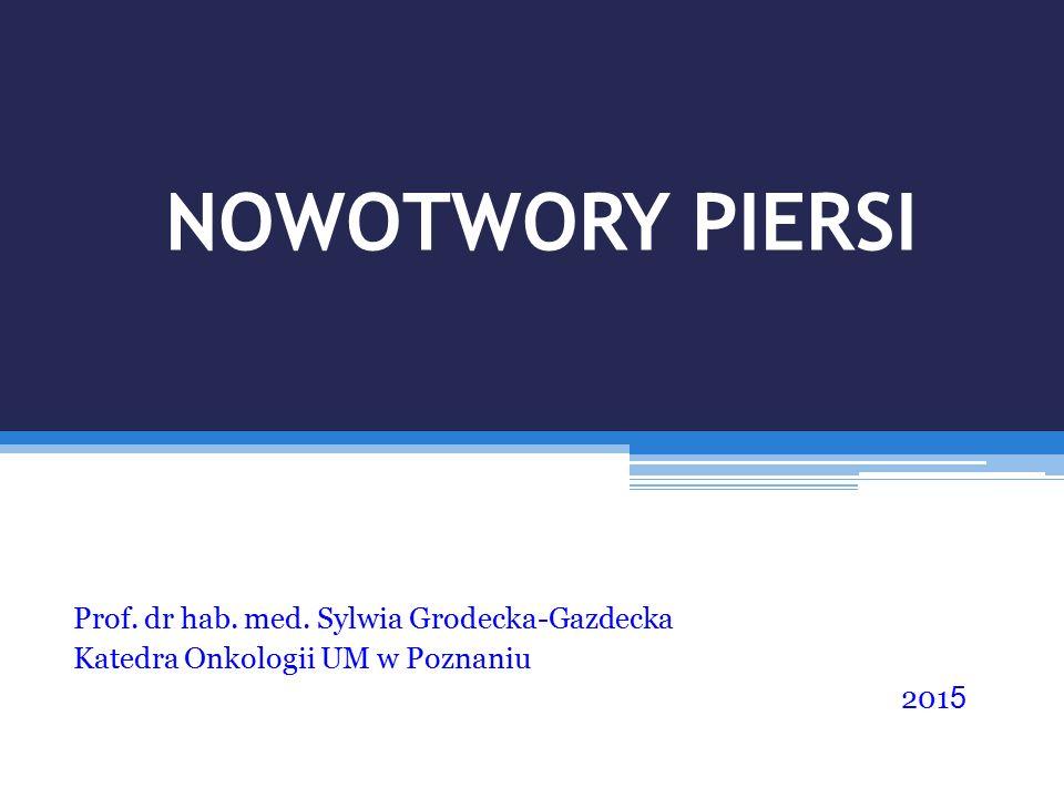 NOWOTWORY PIERSI Prof. dr hab. med. Sylwia Grodecka-Gazdecka