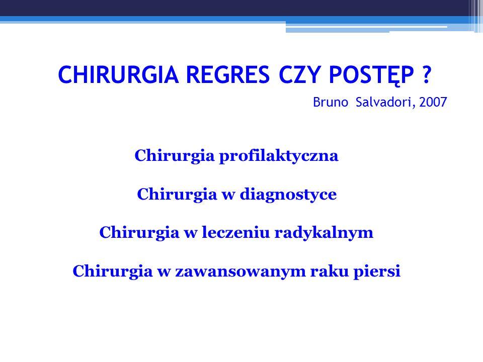 CHIRURGIA REGRES CZY POSTĘP Bruno Salvadori, 2007