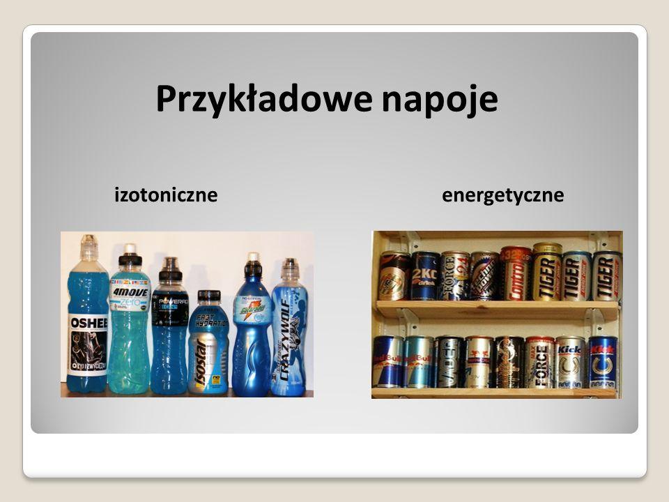 Przykładowe napoje izotoniczne energetyczne