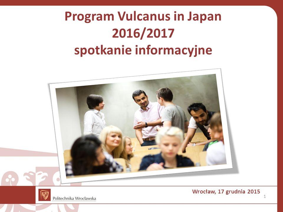 Program Vulcanus in Japan 2016/2017 spotkanie informacyjne