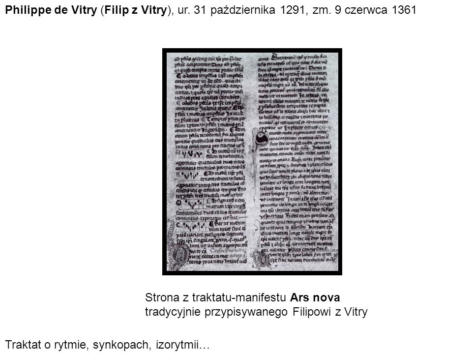 Philippe de Vitry (Filip z Vitry), ur. 31 października 1291, zm