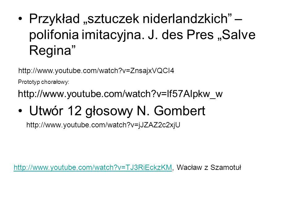 Utwór 12 głosowy N. Gombert