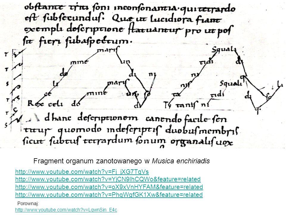 Fragment organum zanotowanego w Musica enchiriadis