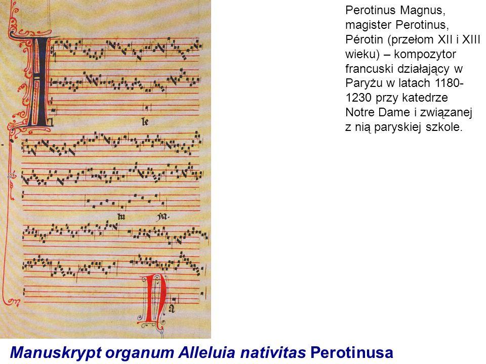 Manuskrypt organum Alleluia nativitas Perotinusa