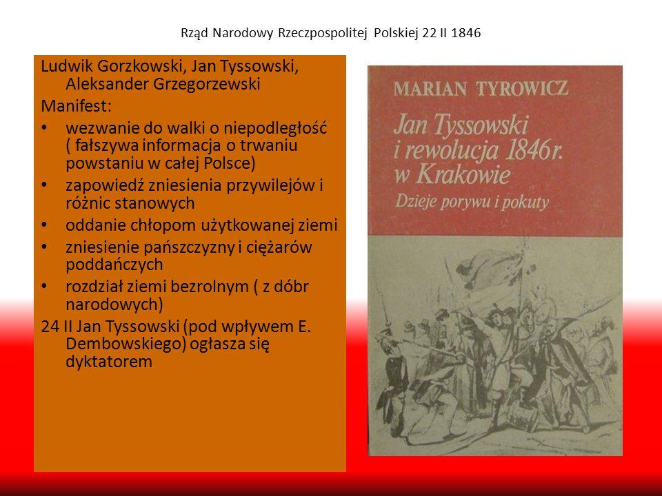 Rząd Narodowy Rzeczpospolitej Polskiej 22 II 1846