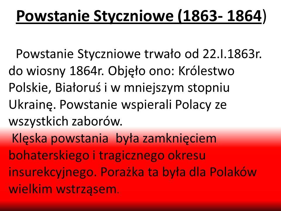 Powstanie Styczniowe (1863- 1864)