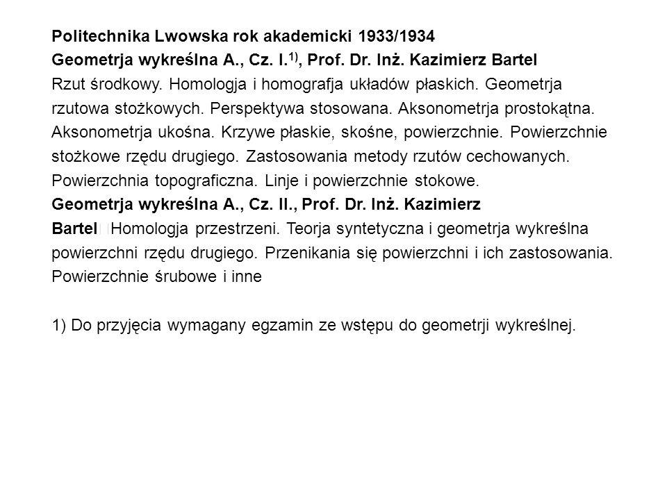 Politechnika Lwowska rok akademicki 1933/1934