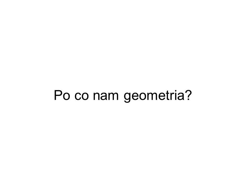 Po co nam geometria
