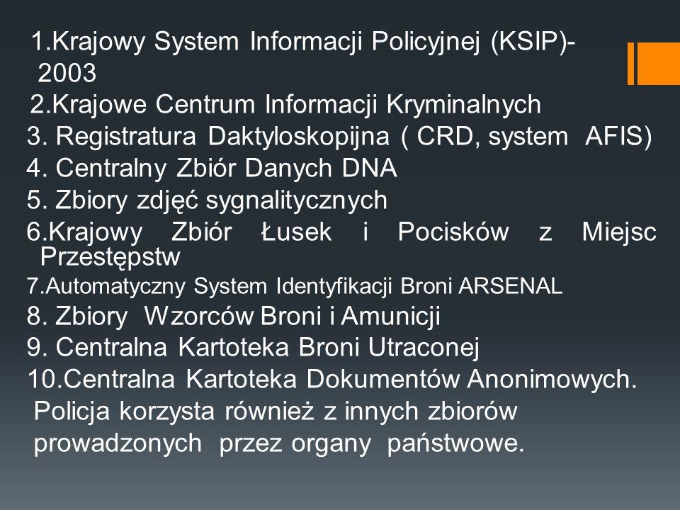 1.Krajowy System Informacji Policyjnej (KSIP)- 2003