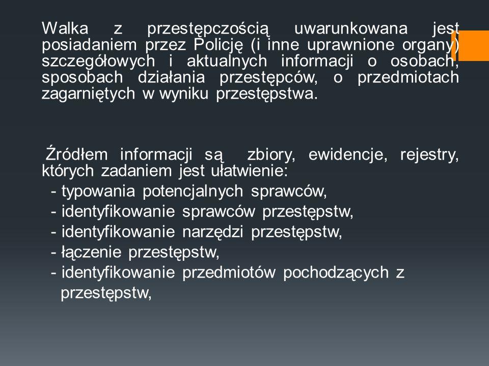 - typowania potencjalnych sprawców,