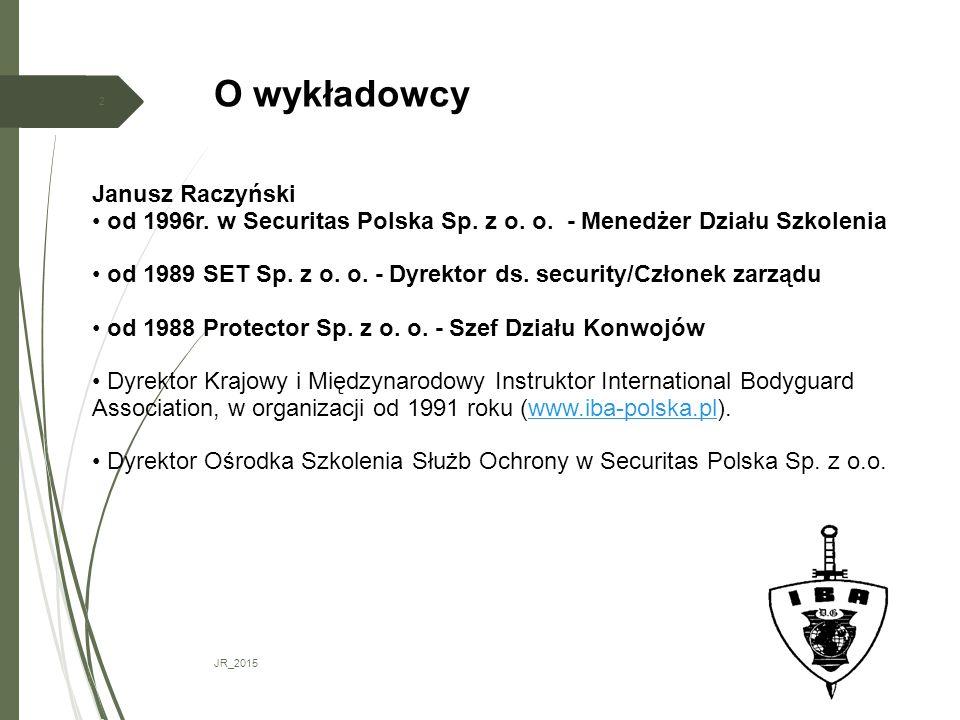 O wykładowcy Janusz Raczyński