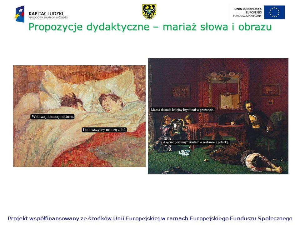 Propozycje dydaktyczne – mariaż słowa i obrazu