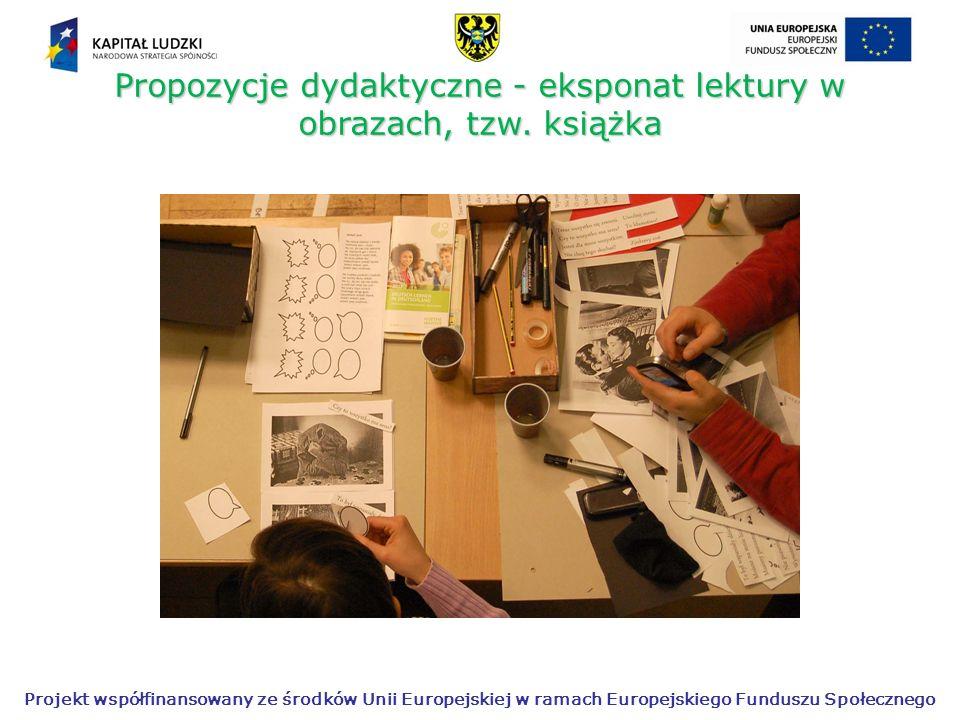 Propozycje dydaktyczne - eksponat lektury w obrazach, tzw. książka