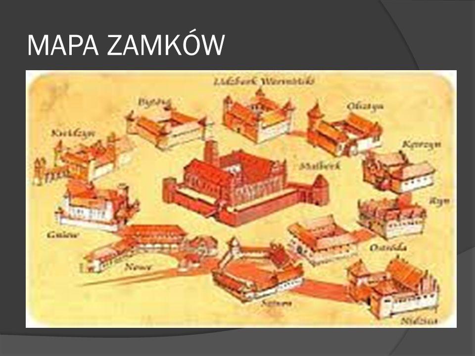 MAPA ZAMKÓW